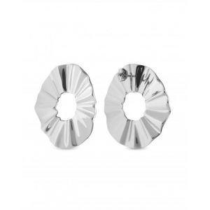 Rosefield Boucles d'oreilles BLWES-J212 - Collection THE LOIS vague Acier