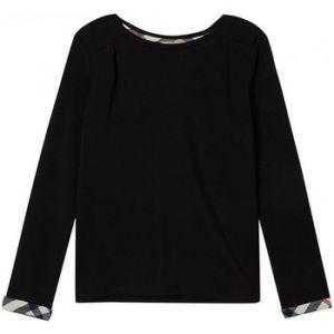 Burberry T-shirt enfant manches longues noir