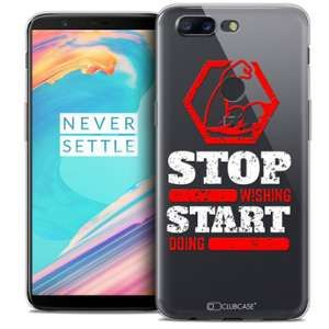 CaseInk Coque OnePlus 5T (6 ) Extra Fine Quote Start Doing