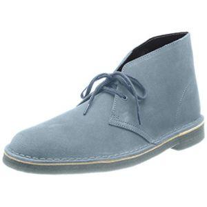 Clarks Desert Boots Homme, Bleu (Blue/Grey), 42 EU