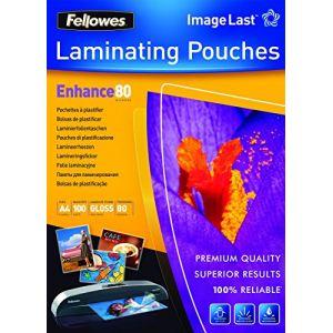 Fellowes 100 pochettes de plastification à chaud format A4 (80 µ)