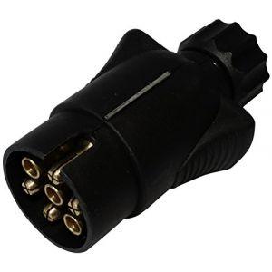 Aerzetix : Fiche mâle 7pin prise connecteur de remorque 7 broches 12V 10mm C12374 attelage faisceau câble câblage feux arrières stop