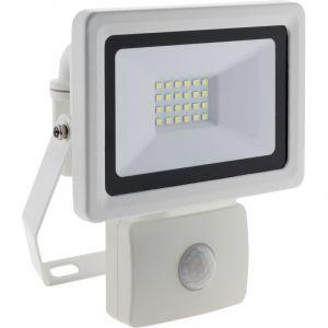 Elexity Projecteur LED 20W Blanc avec détecteur - IP44 CE