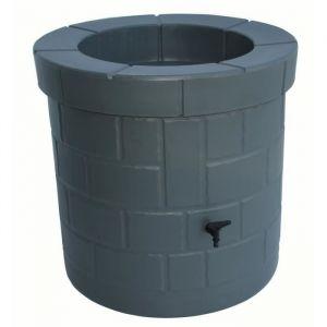 PLAST'UP Récupérateur d'eau de pluie et puit - 340 L - Gris