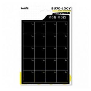 Kesi'art Pochoir d'écriture pour bullet journal - Bujo Logy - Mon mois