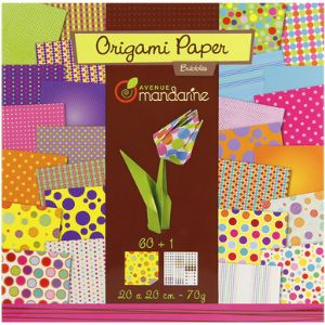Avenue mandarine Kit créatif Origami : Papier Bubbles