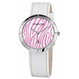Orphelia OR22170971 - Montre Femme - Quartz Analogique - Cadran Multicolore - Bracelet Cuir Blanc