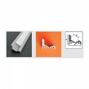 Vision-El Profilé aluminium anodisé LED ANGLE 30/60° 1000 mm pour bandeau LED -