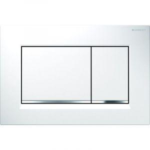 Geberit Plaque de déclenchement à double touche pour chasse d'eau Sigma 30, blanc/chromé brillant/blanc (115.883.KJ.1) -