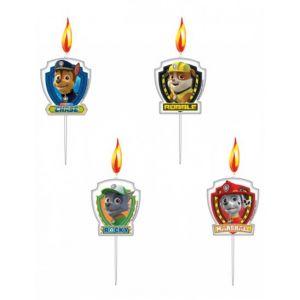 Amscan 4 bougies anniversaire Pat'Patrouille