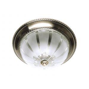 Spotlight Applique ronde Ø33cm globe en verre travaillé ElGrado laiton antique / blanc