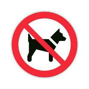 Novap Panneau rond - interdit aux chiens