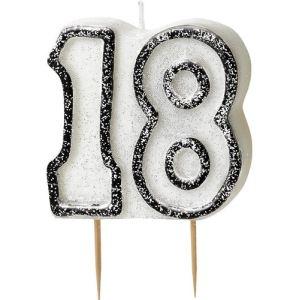 Bougie anniversaire noire 18 ans