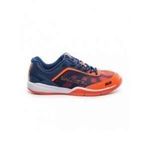 Salming Falco Indoor Shoes - Men - Limoges Blue / Orange Flame - 44 2/3