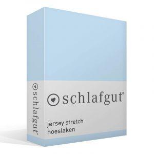 Schlafgut Drap-housse en jersey élasthanne, Coton, aqua, 220 x 100 x 1 cm