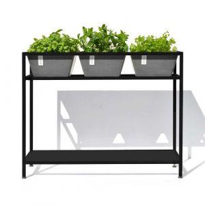 Table pour plantes aromatiques Berlin gris Ecopots