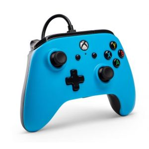 PowerA Manette filaire sous licence officielle pour Xbox One, Xbox One S, Xbox One X, Windows 10 - Bleu