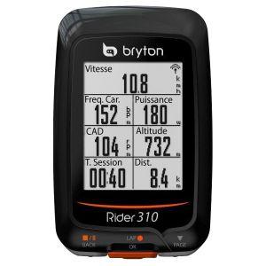 Bryton Rider 310H GPS Cyclisme, Noir, Taille unique
