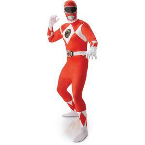 Déguisement Seconde Peau Power Rangers™ Adulte - Rouge - Homme - Taille XL