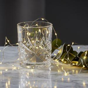 Guirlande lumineuse LED Dew Drops à piles, 100 cm