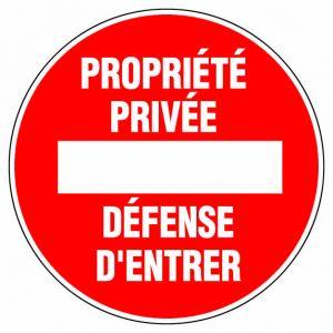 Novap Disque - propriété privé défense d'entrer - D: 300 mm - Signalisation