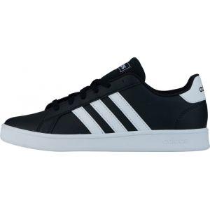 Adidas Chaussures basses - Grand court k, noir / blanc - Noir Enfant 36