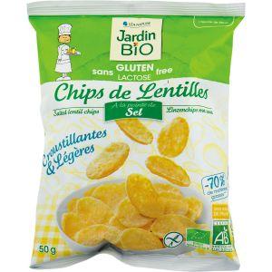 Jardin Bio Chips de Lentilles à la Pointe de Sel sans Gluten 50 g