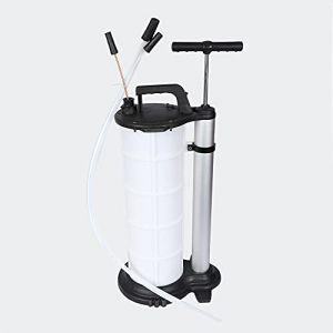 wiltec Pompe Manuelle d'Extraction Huile Réservoir 9 litres Pompe à Vide Aspiration Liquides Vidange Moteur