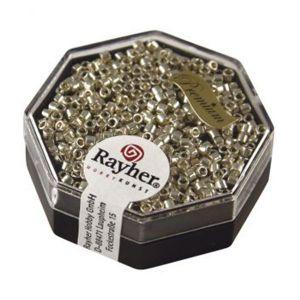 Rayher Perles Miyuki Delica 10/0 métallic topaze fumé - DMB 22