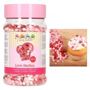 FunCakes Confettis en sucre mix Love