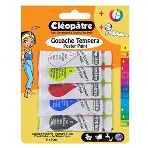 Cleopatre BL5PGN10 - Peinture Gouache Nefertari Premium - Assortiment de couleurs - 5 Tubes de 10g
