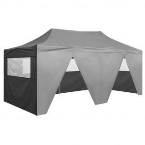 VidaXL Tente de réception pliable avec 4 parois 3x6 m Acier Anthracite