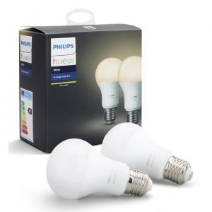 Philips HUE White E27 x2 - Ampoule connectée