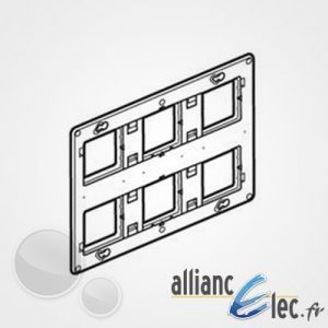 Legrand Support grand format Batibox pour Mosaic et Celiane 2x3 postes 2x6/8 modules