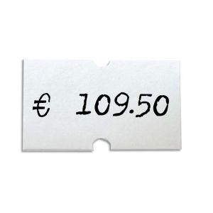 Agipa 100910 - Étiquettes pour pince rectangulaire blanc 21x12mm