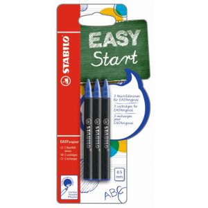 Stabilo 3 recharges easy Original - Bleu