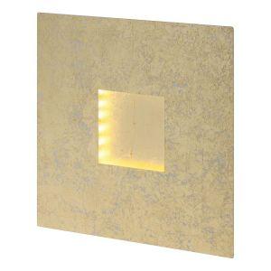 Brilliant AG EEK A+, Applique LED Pyramid speckled - Fer - Doré, Living