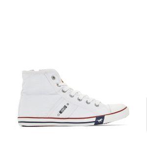 Mustang 1099-502-1 Sneakers Hautes Femme, Blanc