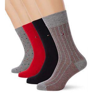 Tommy Hilfiger Socks Lot de 4 paires de chaussettes - gris