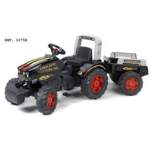 Falk Tracteur à pédales Farm King Xline 900 avec remorque