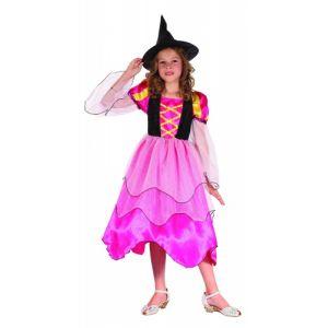 Déguisement sorcière rose pour fille