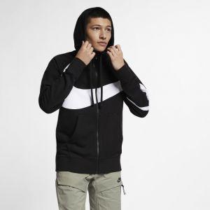 Nike Sweat à capuche en molleton entièrement zippé Sportswear pour Homme - Noir - Couleur Noir - Taille XL