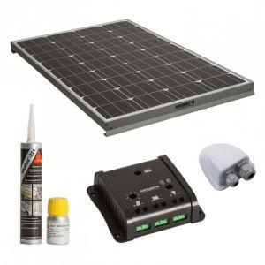 Antarion Kit complet panneau solaire 140W Haute performance camping car