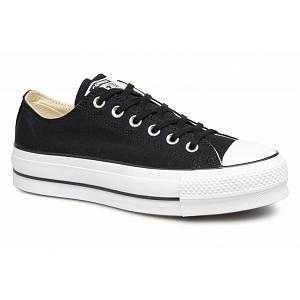 Converse Chuck Taylor CTAS Lift Ox Canvas, Chaussures de Fitness Femme, Noir (Black/Garnet/White 001), 41 EU