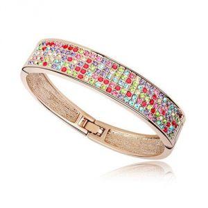 Blue Pearls CRY A154 G - Bracelet Bangle et Cristal de Swarovski pour femme
