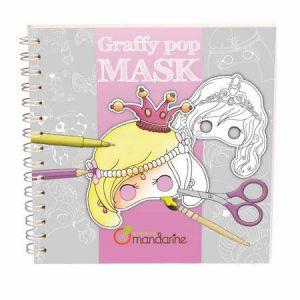 H.Koenig Carnet de coloriage et masques Graffy Pop Mask : Princesses
