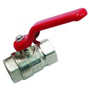 Vanne laiton 1'' (26/34) FF Poignée plate rouge PN 20 Arrosage Irrigation