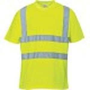 Portwest Tee Shirt HiVi jaune fluo polyester Taille L : S478YERL