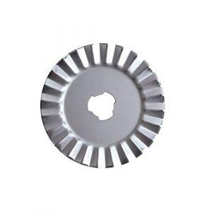 Fiskars Lame crantée Rotative de rechange Ø45 mm, Zigzag, 1003735