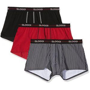 Sloggi Boxers MEN START X 3 Noir - Taille T3,T5,T4,T6